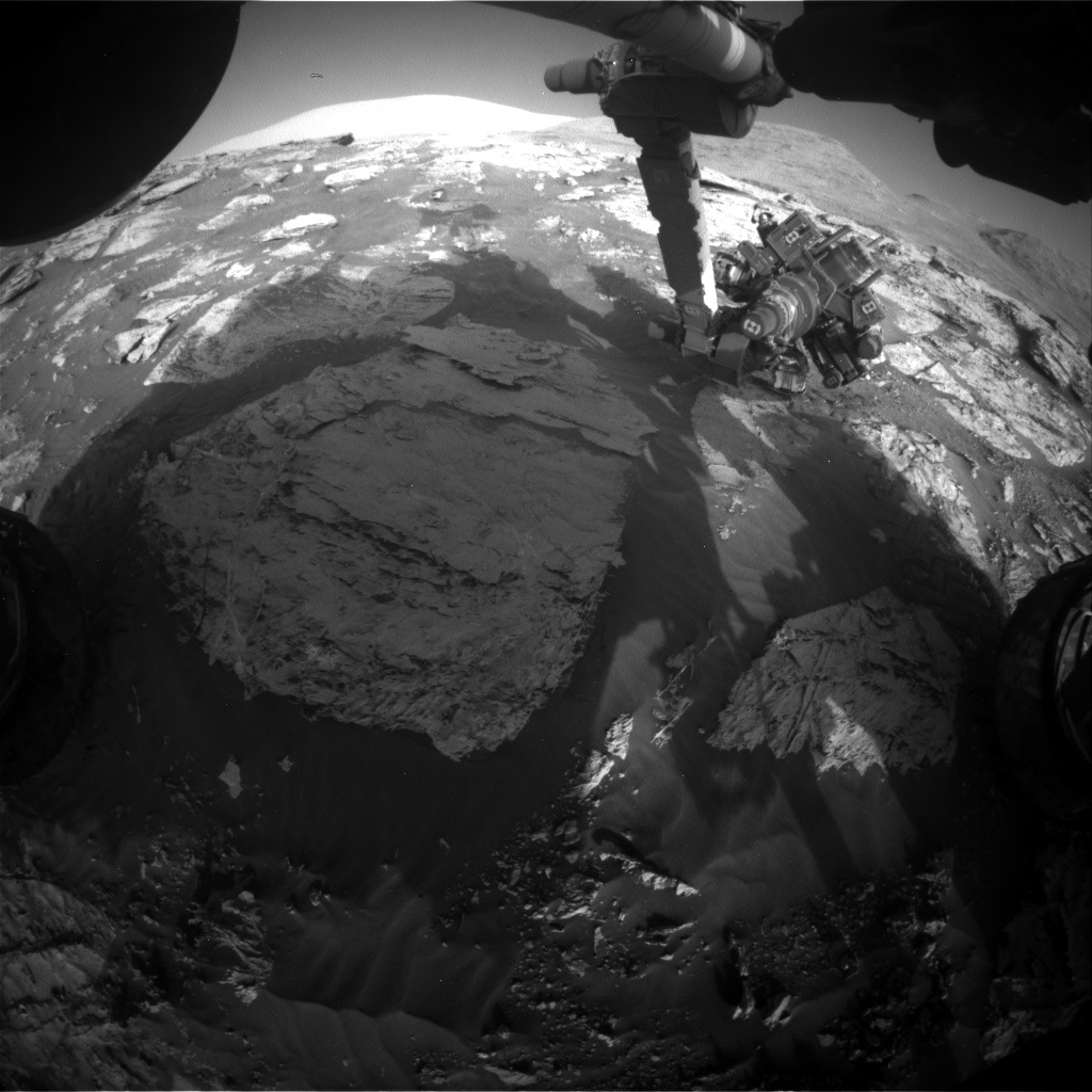 Nasa's Mars rover Curiosity acquired this image using its Front Hazard Avoidance Camera (Front Hazcam) on Sol 3112, at drive 2902, site number 87