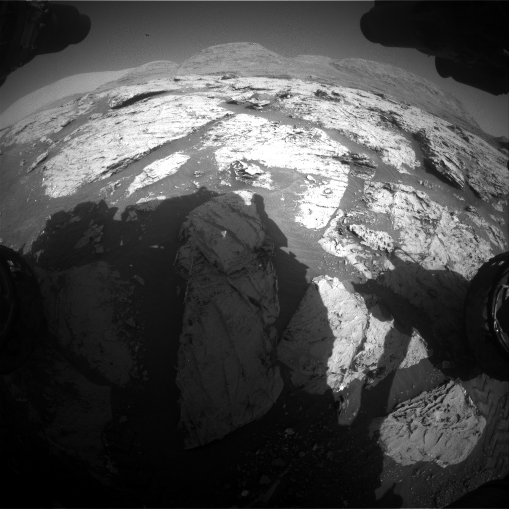 Nasa's Mars rover Curiosity acquired this image using its Front Hazard Avoidance Camera (Front Hazcam) on Sol 3113, at drive 0, site number 88