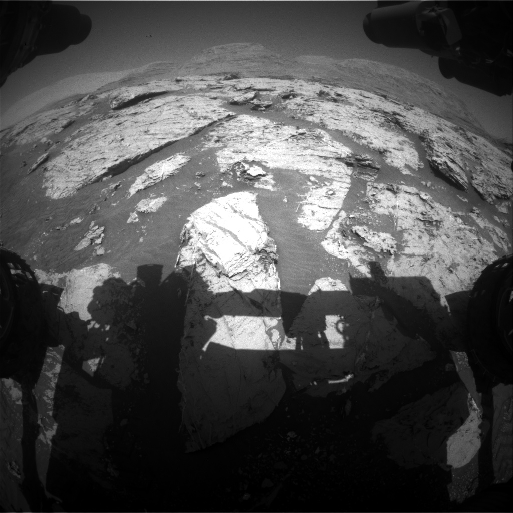 Nasa's Mars rover Curiosity acquired this image using its Front Hazard Avoidance Camera (Front Hazcam) on Sol 3114, at drive 0, site number 88
