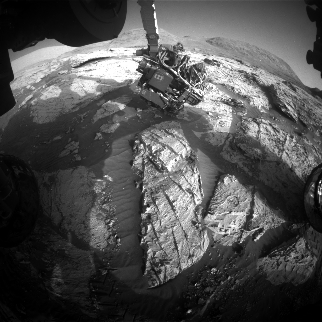 Nasa's Mars rover Curiosity acquired this image using its Front Hazard Avoidance Camera (Front Hazcam) on Sol 3115, at drive 0, site number 88