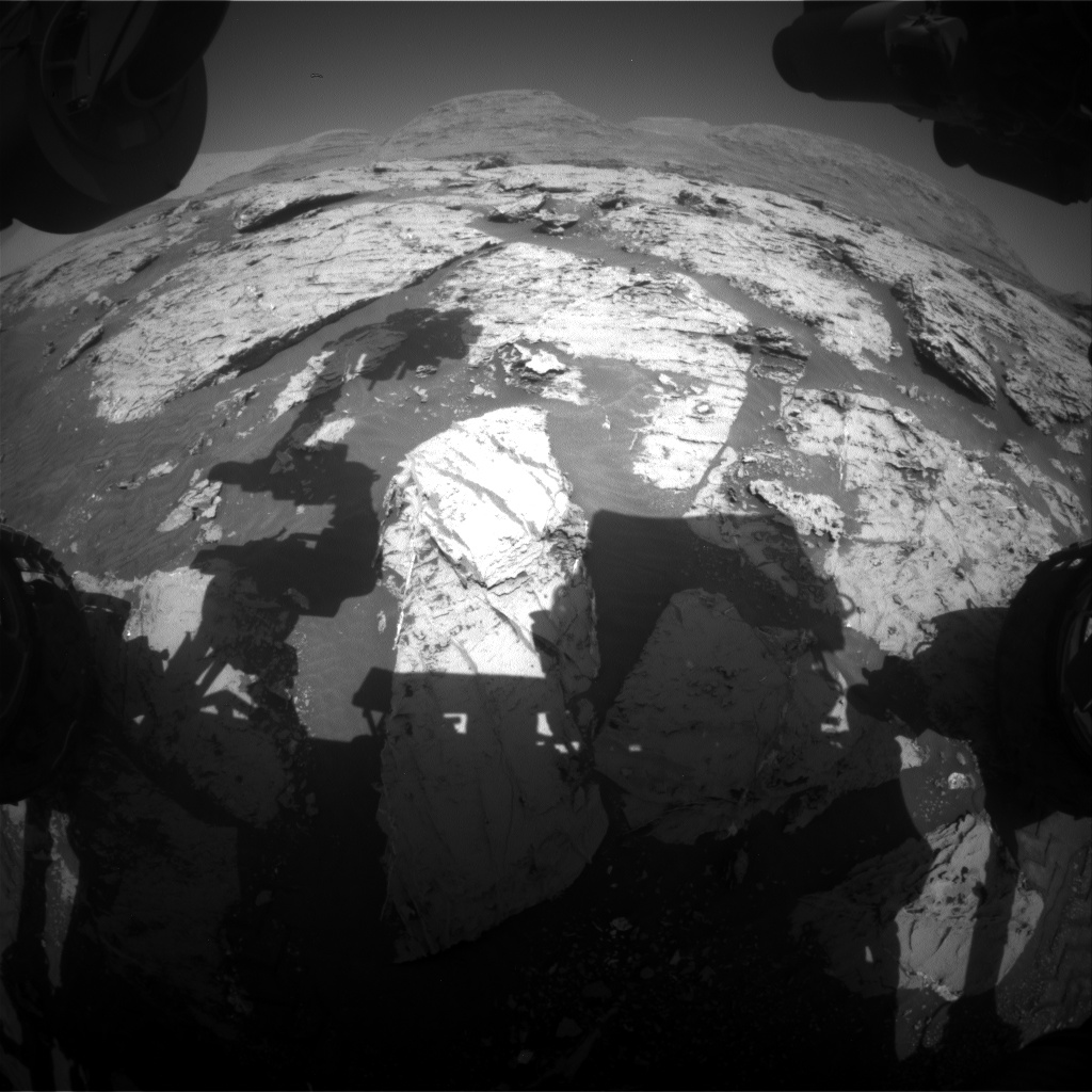 Nasa's Mars rover Curiosity acquired this image using its Front Hazard Avoidance Camera (Front Hazcam) on Sol 3116, at drive 0, site number 88