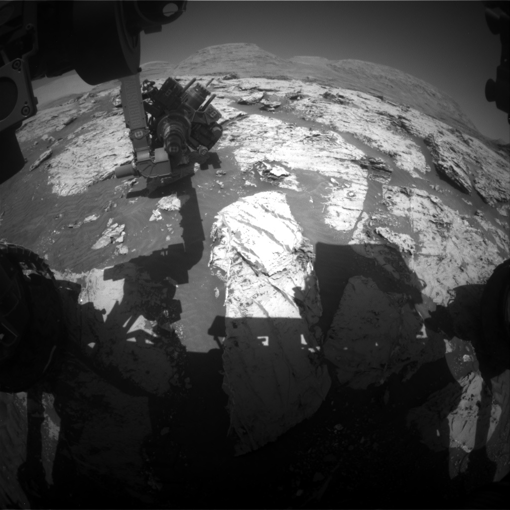 Nasa's Mars rover Curiosity acquired this image using its Front Hazard Avoidance Camera (Front Hazcam) on Sol 3117, at drive 0, site number 88