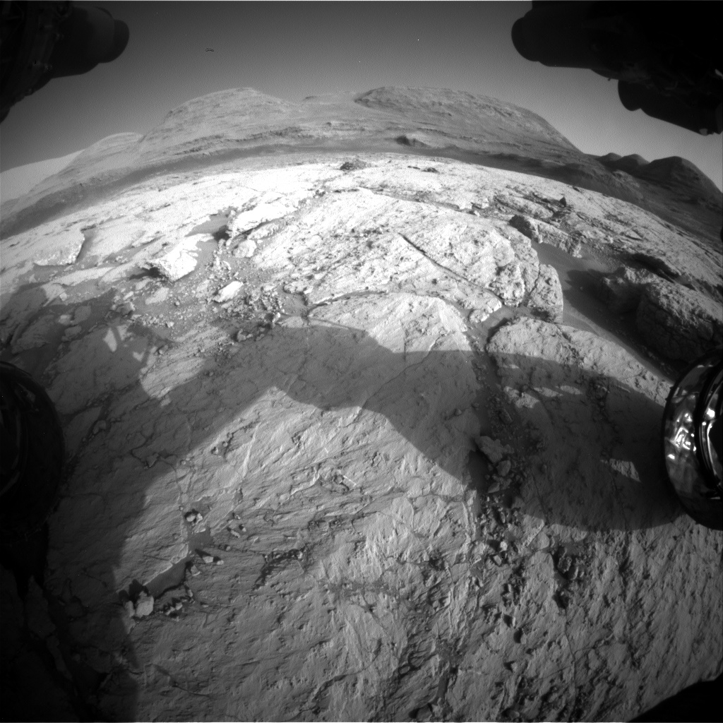 Nasa's Mars rover Curiosity acquired this image using its Front Hazard Avoidance Camera (Front Hazcam) on Sol 3118, at drive 156, site number 88