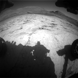 Nasa's Mars rover Curiosity acquired this image using its Front Hazard Avoidance Camera (Front Hazcam) on Sol 3120, at drive 246, site number 88