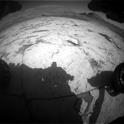 Nasa's Mars rover Curiosity acquired this image using its Front Hazard Avoidance Camera (Front Hazcam) on Sol 3120, at drive 288, site number 88