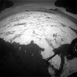 Nasa's Mars rover Curiosity acquired this image using its Front Hazard Avoidance Camera (Front Hazcam) on Sol 3120, at drive 294, site number 88