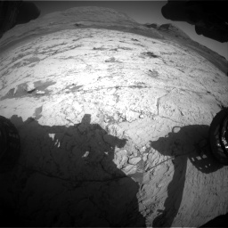 Nasa's Mars rover Curiosity acquired this image using its Front Hazard Avoidance Camera (Front Hazcam) on Sol 3120, at drive 300, site number 88
