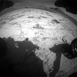 Nasa's Mars rover Curiosity acquired this image using its Front Hazard Avoidance Camera (Front Hazcam) on Sol 3120, at drive 306, site number 88