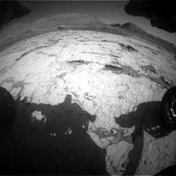 Nasa's Mars rover Curiosity acquired this image using its Front Hazard Avoidance Camera (Front Hazcam) on Sol 3120, at drive 330, site number 88