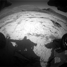 Nasa's Mars rover Curiosity acquired this image using its Front Hazard Avoidance Camera (Front Hazcam) on Sol 3120, at drive 336, site number 88