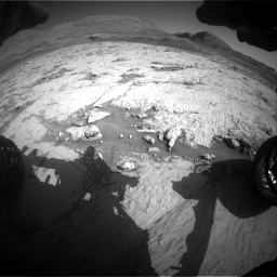 Nasa's Mars rover Curiosity acquired this image using its Front Hazard Avoidance Camera (Front Hazcam) on Sol 3120, at drive 348, site number 88