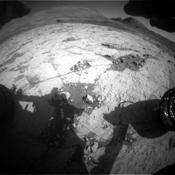 Nasa's Mars rover Curiosity acquired this image using its Front Hazard Avoidance Camera (Front Hazcam) on Sol 3120, at drive 360, site number 88
