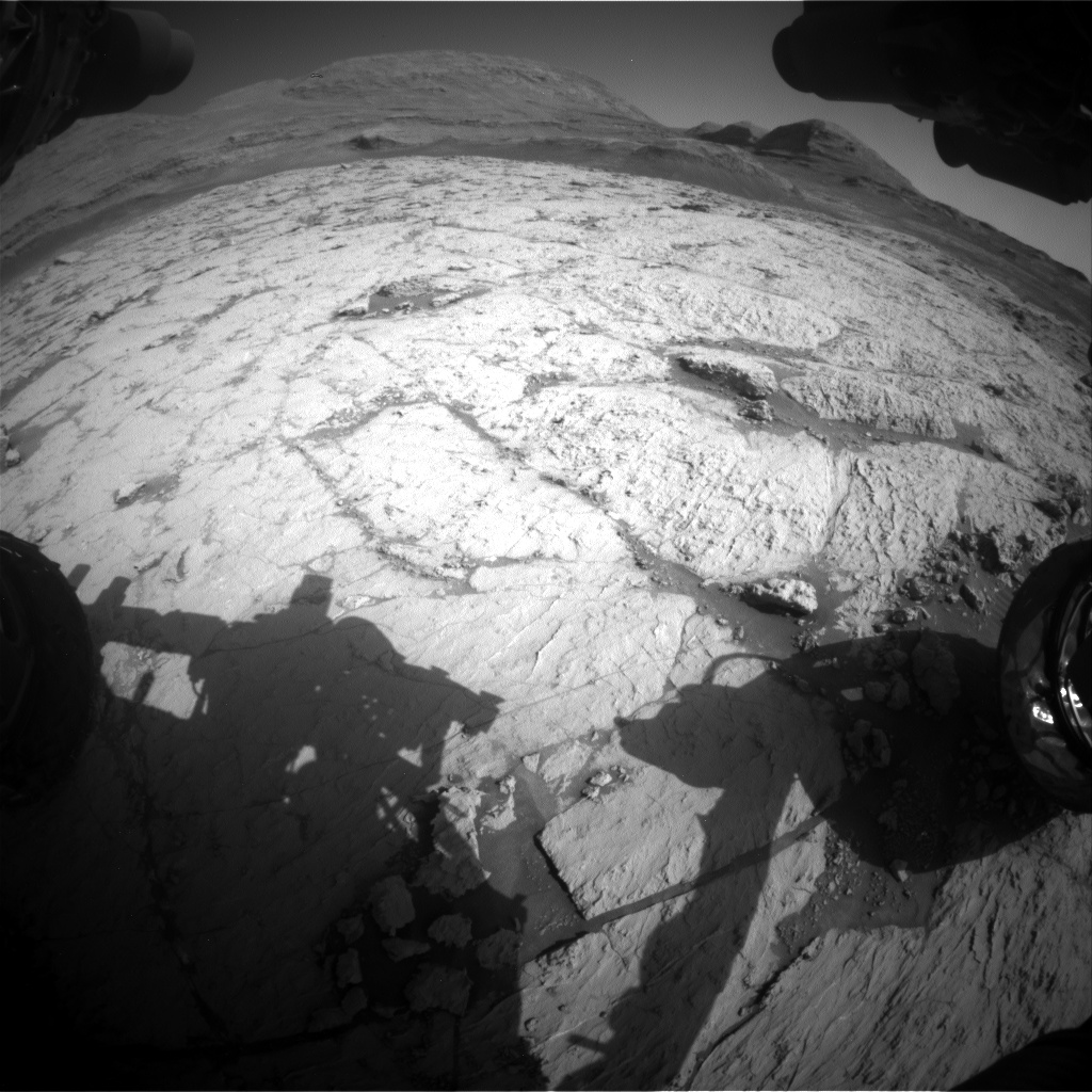 Nasa's Mars rover Curiosity acquired this image using its Front Hazard Avoidance Camera (Front Hazcam) on Sol 3120, at drive 366, site number 88