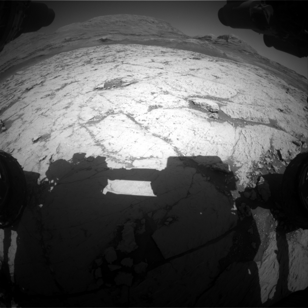 Nasa's Mars rover Curiosity acquired this image using its Front Hazard Avoidance Camera (Front Hazcam) on Sol 3121, at drive 366, site number 88