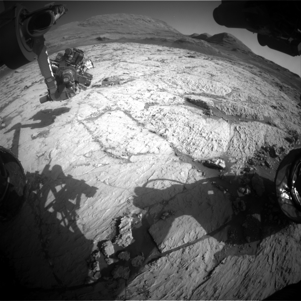Nasa's Mars rover Curiosity acquired this image using its Front Hazard Avoidance Camera (Front Hazcam) on Sol 3122, at drive 366, site number 88