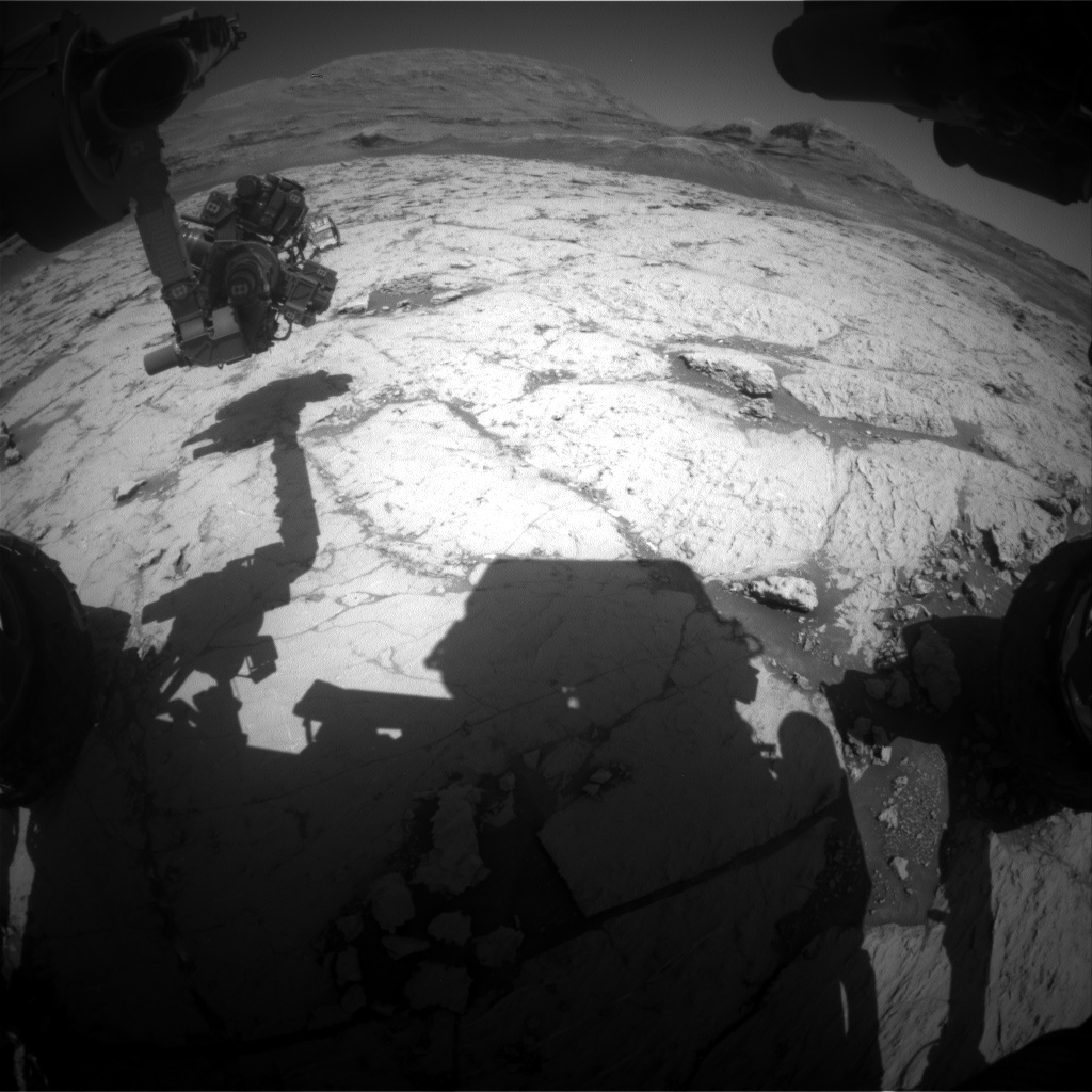 Nasa's Mars rover Curiosity acquired this image using its Front Hazard Avoidance Camera (Front Hazcam) on Sol 3123, at drive 366, site number 88