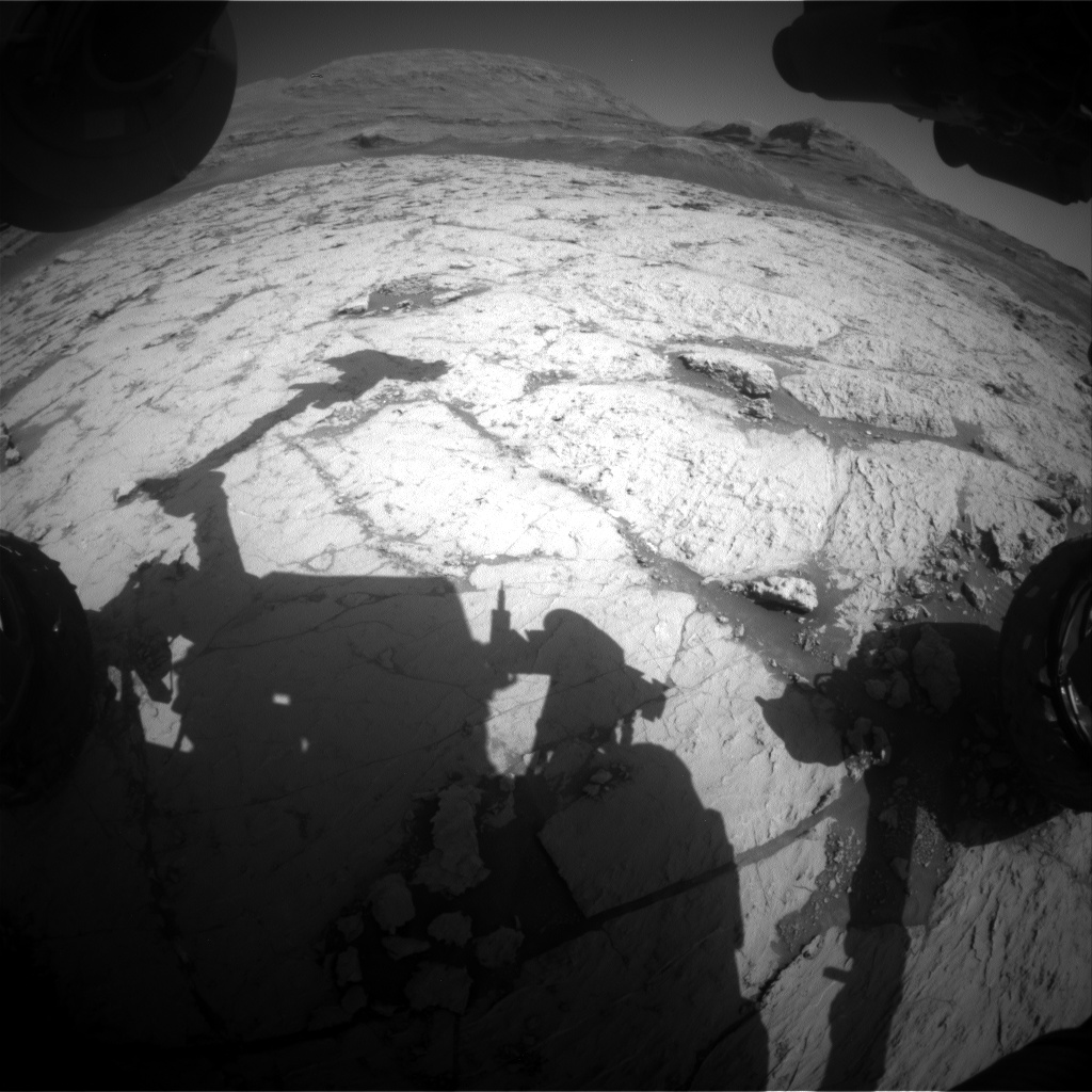 Nasa's Mars rover Curiosity acquired this image using its Front Hazard Avoidance Camera (Front Hazcam) on Sol 3124, at drive 366, site number 88