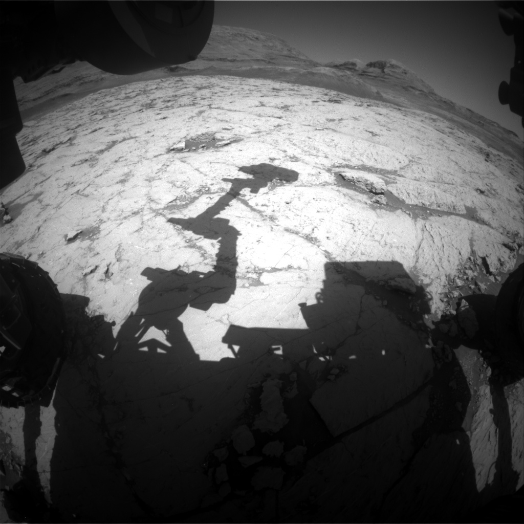 Nasa's Mars rover Curiosity acquired this image using its Front Hazard Avoidance Camera (Front Hazcam) on Sol 3125, at drive 366, site number 88