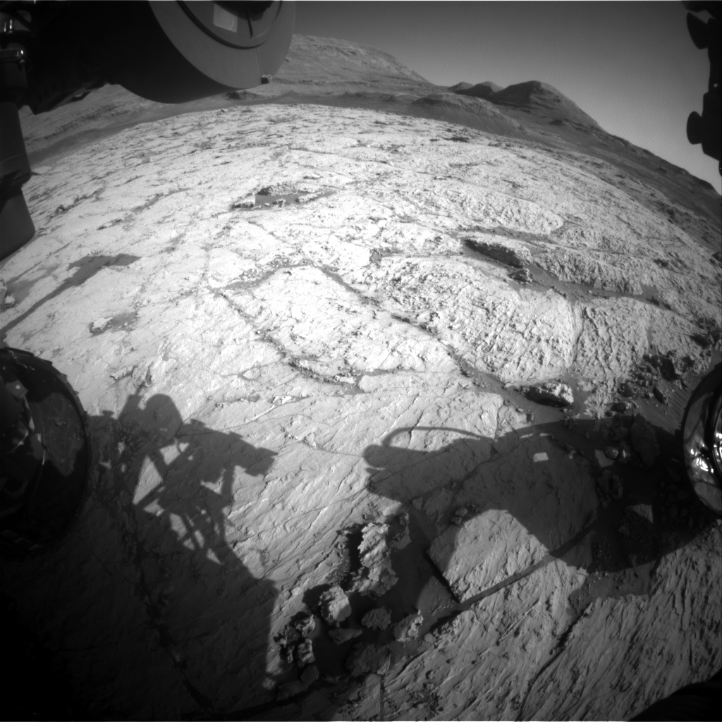 Nasa's Mars rover Curiosity acquired this image using its Front Hazard Avoidance Camera (Front Hazcam) on Sol 3126, at drive 366, site number 88