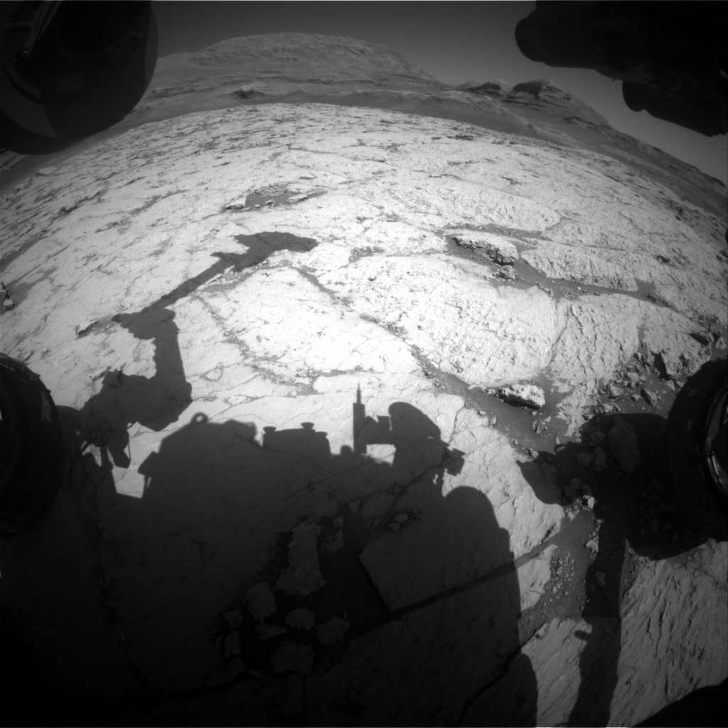 Nasa's Mars rover Curiosity acquired this image using its Front Hazard Avoidance Camera (Front Hazcam) on Sol 3127, at drive 366, site number 88