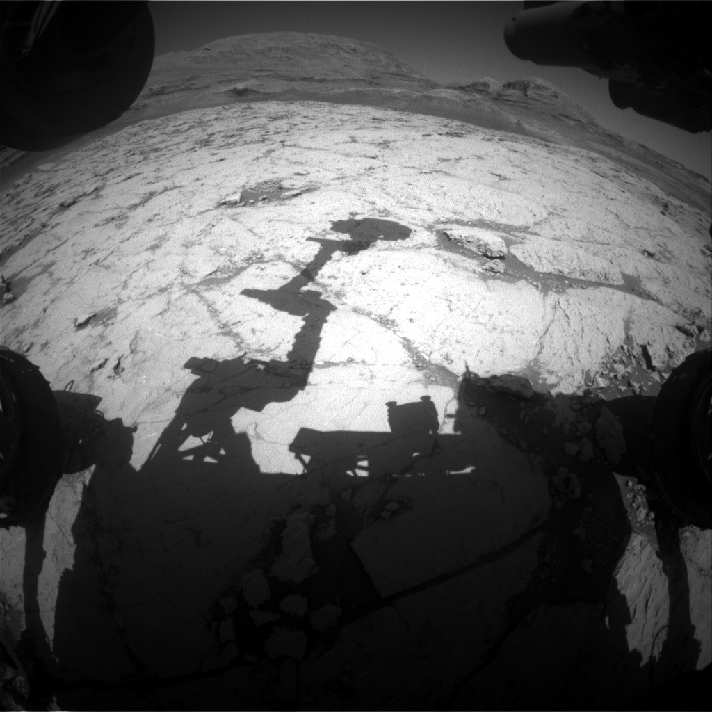 Nasa's Mars rover Curiosity acquired this image using its Front Hazard Avoidance Camera (Front Hazcam) on Sol 3128, at drive 366, site number 88