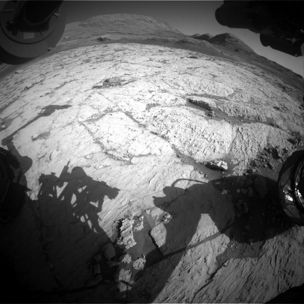 Nasa's Mars rover Curiosity acquired this image using its Front Hazard Avoidance Camera (Front Hazcam) on Sol 3129, at drive 366, site number 88