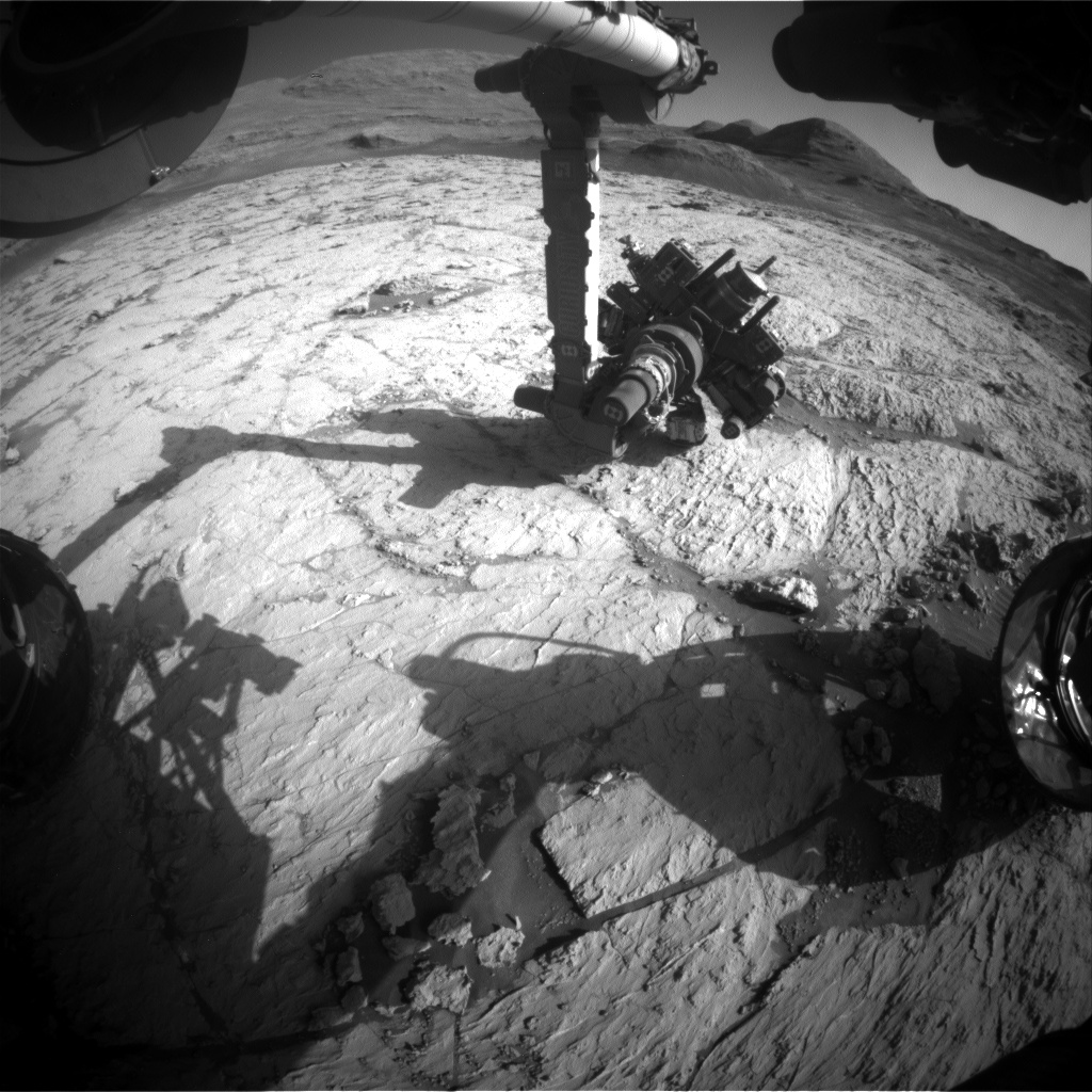 Nasa's Mars rover Curiosity acquired this image using its Front Hazard Avoidance Camera (Front Hazcam) on Sol 3131, at drive 366, site number 88