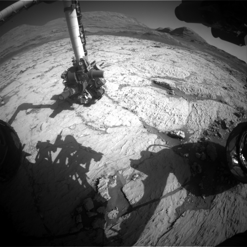 Nasa's Mars rover Curiosity acquired this image using its Front Hazard Avoidance Camera (Front Hazcam) on Sol 3132, at drive 366, site number 88