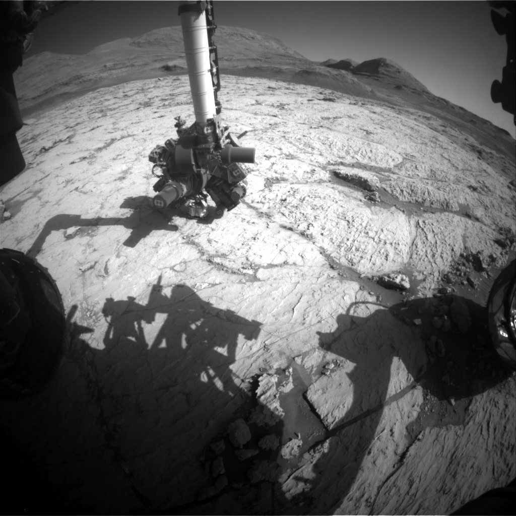 Nasa's Mars rover Curiosity acquired this image using its Front Hazard Avoidance Camera (Front Hazcam) on Sol 3133, at drive 366, site number 88