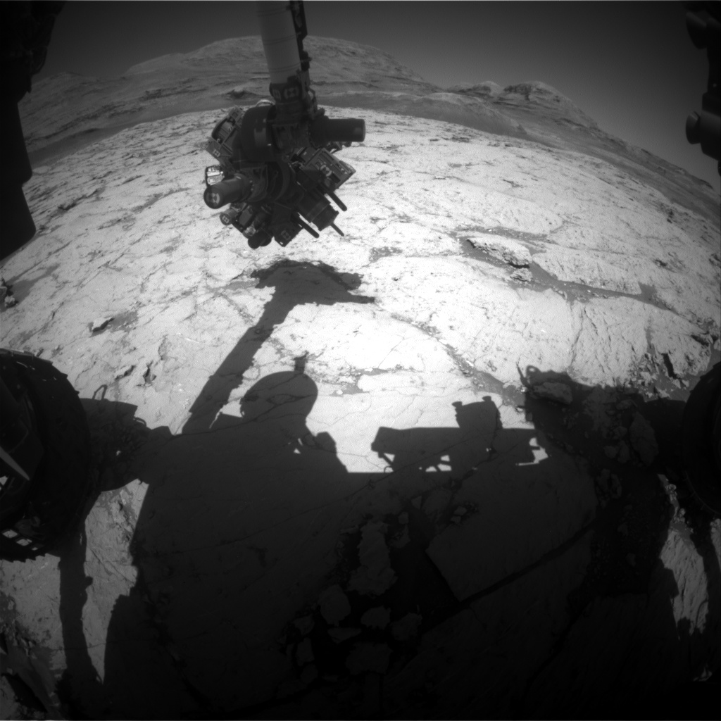 Nasa's Mars rover Curiosity acquired this image using its Front Hazard Avoidance Camera (Front Hazcam) on Sol 3134, at drive 366, site number 88