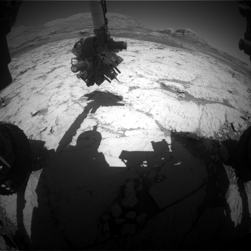 Nasa's Mars rover Curiosity acquired this image using its Front Hazard Avoidance Camera (Front Hazcam) on Sol 3135, at drive 366, site number 88