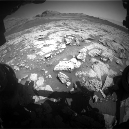 Nasa's Mars rover Curiosity acquired this image using its Front Hazard Avoidance Camera (Front Hazcam) on Sol 3136, at drive 690, site number 88