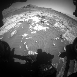 Nasa's Mars rover Curiosity acquired this image using its Front Hazard Avoidance Camera (Front Hazcam) on Sol 3136, at drive 750, site number 88