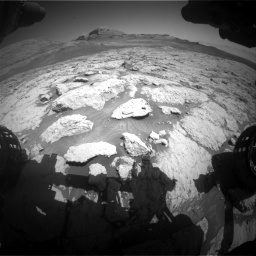 Nasa's Mars rover Curiosity acquired this image using its Front Hazard Avoidance Camera (Front Hazcam) on Sol 3136, at drive 636, site number 88