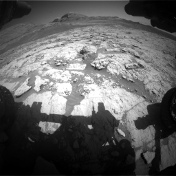Nasa's Mars rover Curiosity acquired this image using its Front Hazard Avoidance Camera (Front Hazcam) on Sol 3136, at drive 654, site number 88