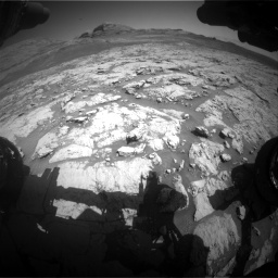 Nasa's Mars rover Curiosity acquired this image using its Front Hazard Avoidance Camera (Front Hazcam) on Sol 3136, at drive 678, site number 88