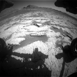 Nasa's Mars rover Curiosity acquired this image using its Front Hazard Avoidance Camera (Front Hazcam) on Sol 3136, at drive 726, site number 88