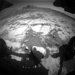 Nasa's Mars rover Curiosity acquired this image using its Front Hazard Avoidance Camera (Front Hazcam) on Sol 3136, at drive 732, site number 88