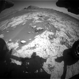 Nasa's Mars rover Curiosity acquired this image using its Front Hazard Avoidance Camera (Front Hazcam) on Sol 3136, at drive 744, site number 88
