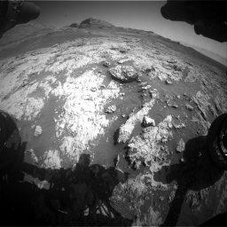 Nasa's Mars rover Curiosity acquired this image using its Front Hazard Avoidance Camera (Front Hazcam) on Sol 3136, at drive 756, site number 88