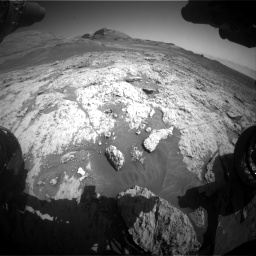 Nasa's Mars rover Curiosity acquired this image using its Front Hazard Avoidance Camera (Front Hazcam) on Sol 3136, at drive 762, site number 88