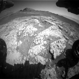 Nasa's Mars rover Curiosity acquired this image using its Front Hazard Avoidance Camera (Front Hazcam) on Sol 3136, at drive 780, site number 88