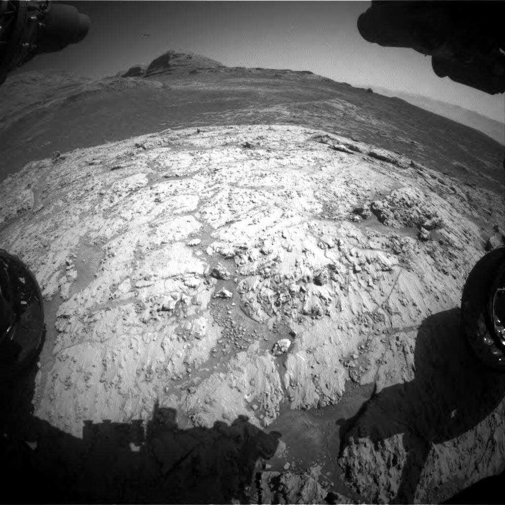 Nasa's Mars rover Curiosity acquired this image using its Front Hazard Avoidance Camera (Front Hazcam) on Sol 3136, at drive 804, site number 88