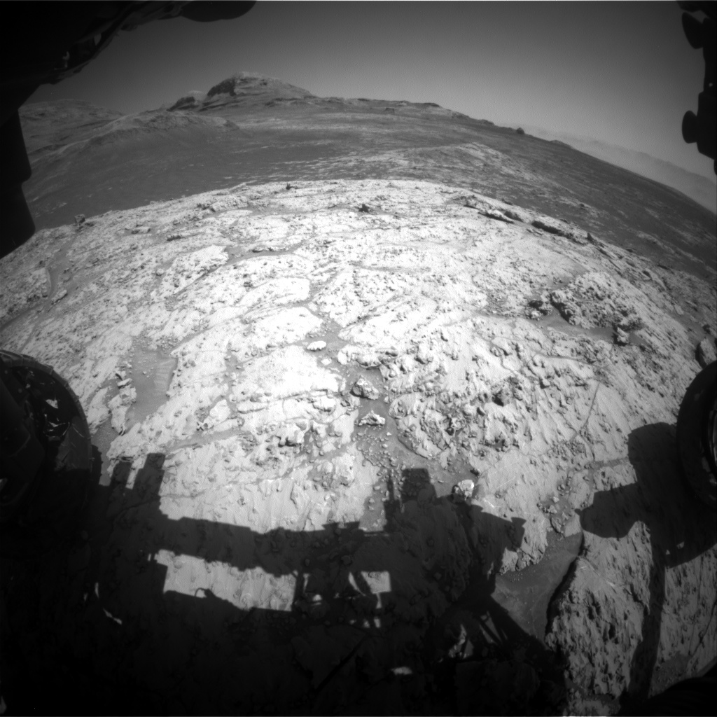 Nasa's Mars rover Curiosity acquired this image using its Front Hazard Avoidance Camera (Front Hazcam) on Sol 3137, at drive 804, site number 88
