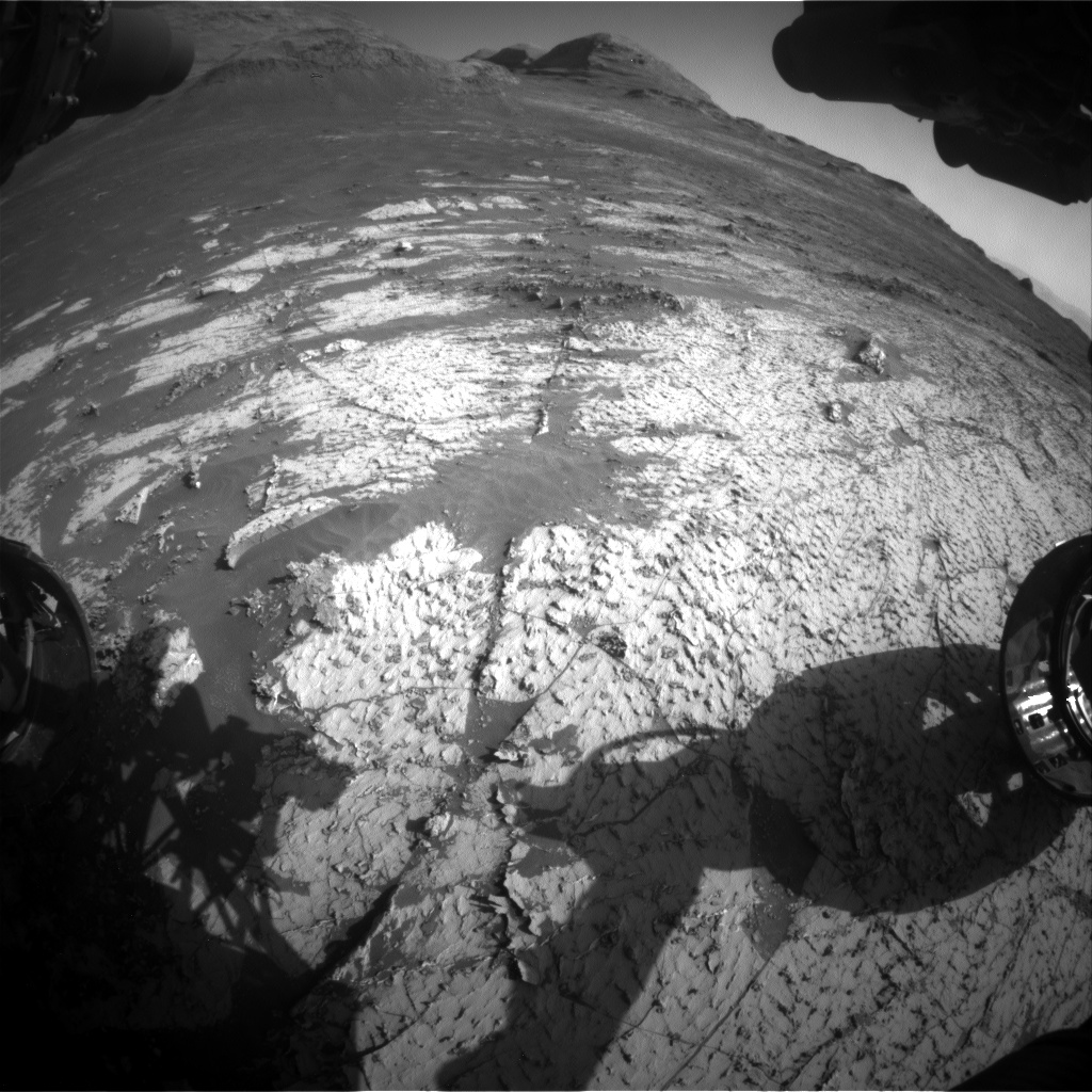 Nasa's Mars rover Curiosity acquired this image using its Front Hazard Avoidance Camera (Front Hazcam) on Sol 3138, at drive 1230, site number 88
