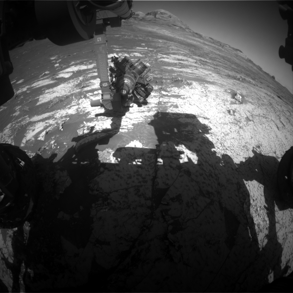 Nasa's Mars rover Curiosity acquired this image using its Front Hazard Avoidance Camera (Front Hazcam) on Sol 3140, at drive 1230, site number 88