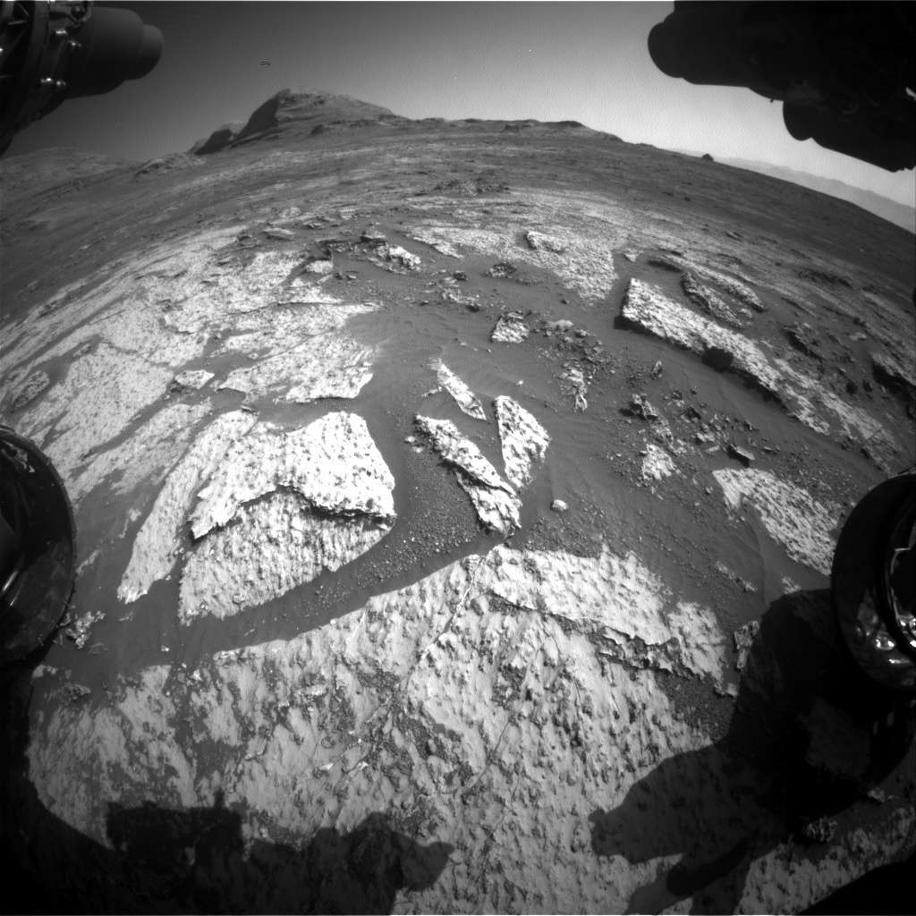 Nasa's Mars rover Curiosity acquired this image using its Front Hazard Avoidance Camera (Front Hazcam) on Sol 3140, at drive 1734, site number 88