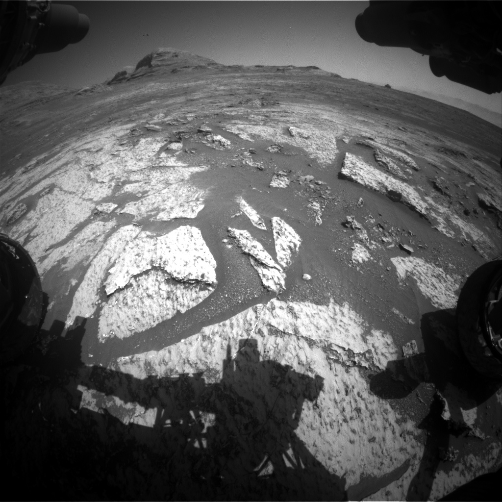 Nasa's Mars rover Curiosity acquired this image using its Front Hazard Avoidance Camera (Front Hazcam) on Sol 3141, at drive 1734, site number 88