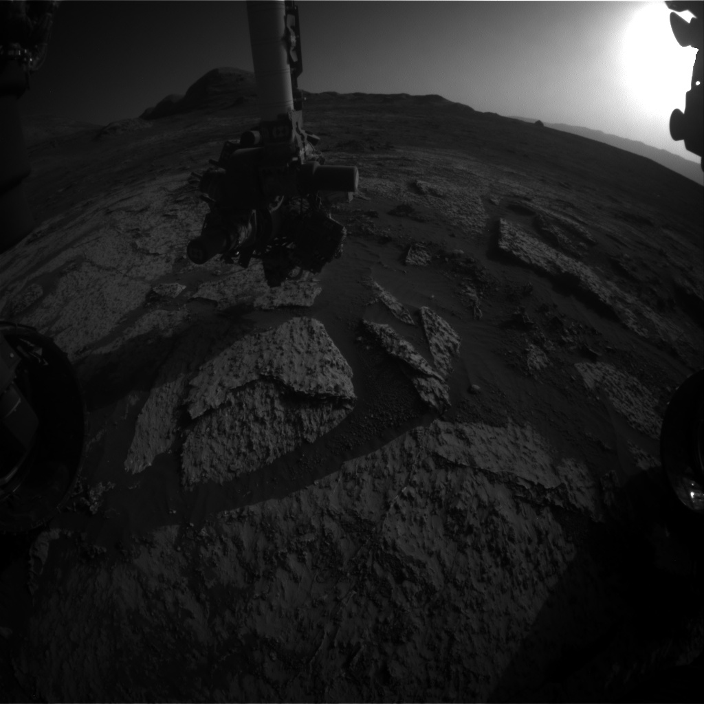 Nasa's Mars rover Curiosity acquired this image using its Front Hazard Avoidance Camera (Front Hazcam) on Sol 3142, at drive 1734, site number 88