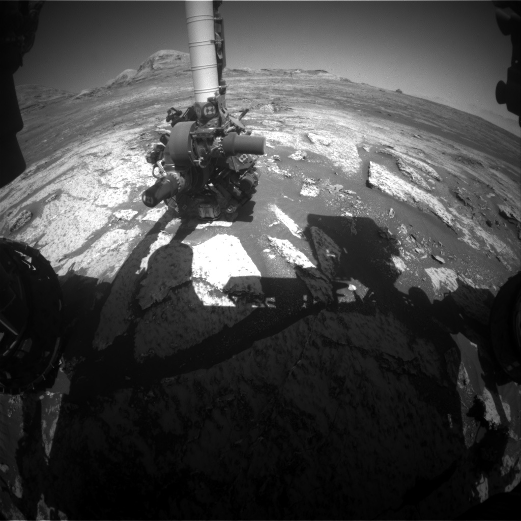 Nasa's Mars rover Curiosity acquired this image using its Front Hazard Avoidance Camera (Front Hazcam) on Sol 3143, at drive 1734, site number 88
